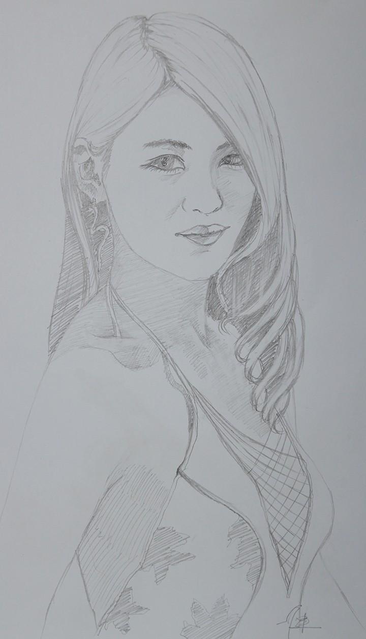 模特素描-1
