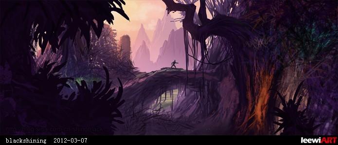 场景概念原画临摹——丛林类001