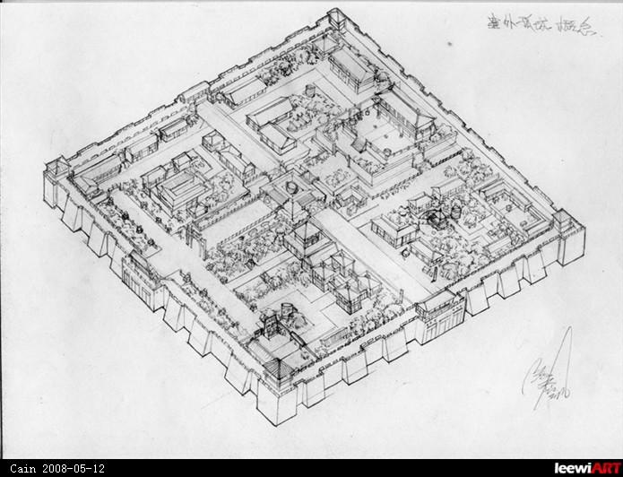 古代城市规划概念设定