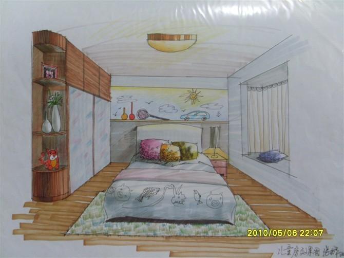 儿童房手绘效果图