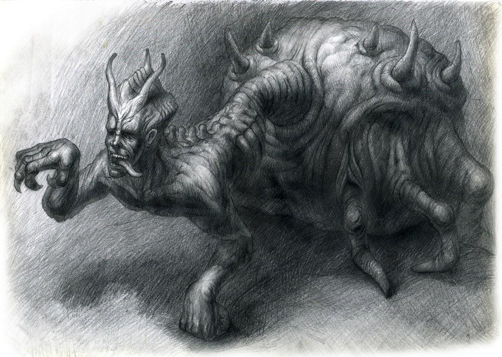手绘 怪兽6