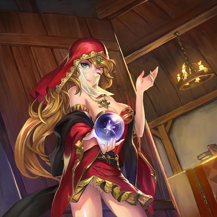 欧式巫女卡通图片