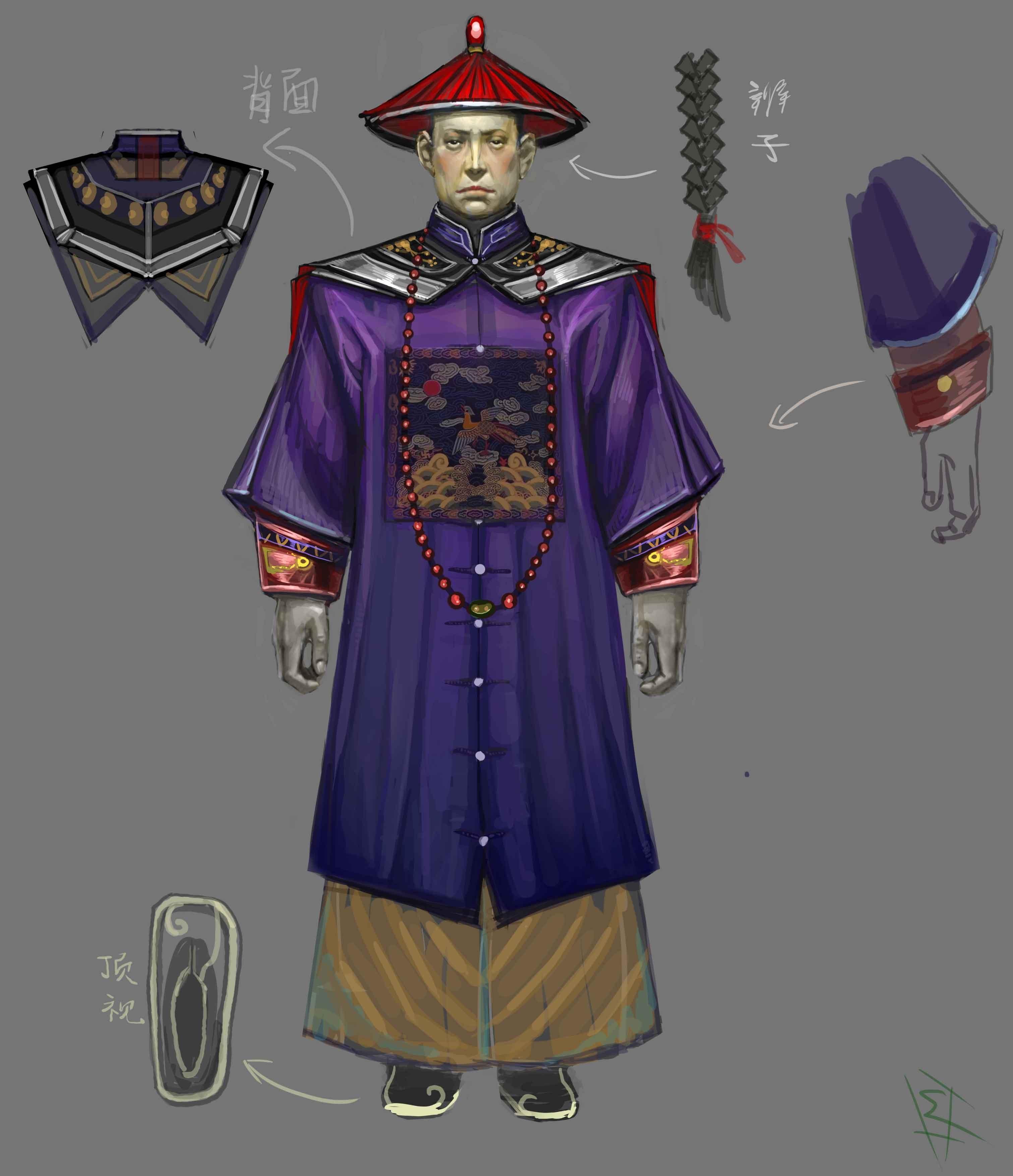 古代官员服饰图案