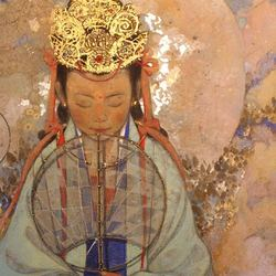 【岩彩】西藏的女财神——扎基拉姆
