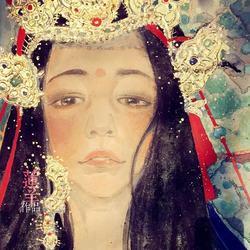 新岩彩·尼泊尔公主