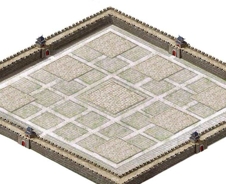 facebook三国游戏城墙