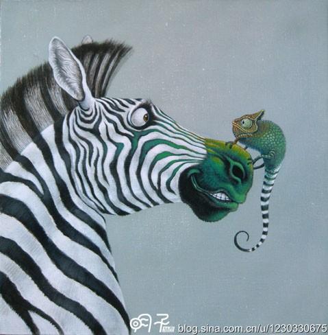 动物系列(30x30丙烯画布)1