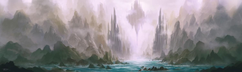 壁纸 风景 旅游 瀑布 山水 桌面 1500_450