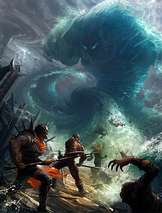 海洋漩涡矢量图