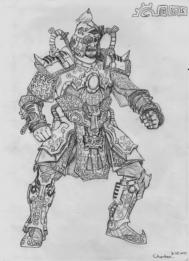 盔甲怎么画简笔画