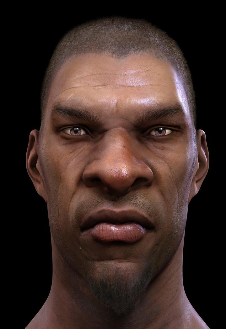 男士发型划痕黑人