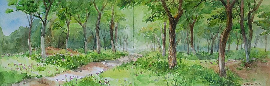 春天的小树林 由 yayayayu 创作   乐艺leewiart cg,.