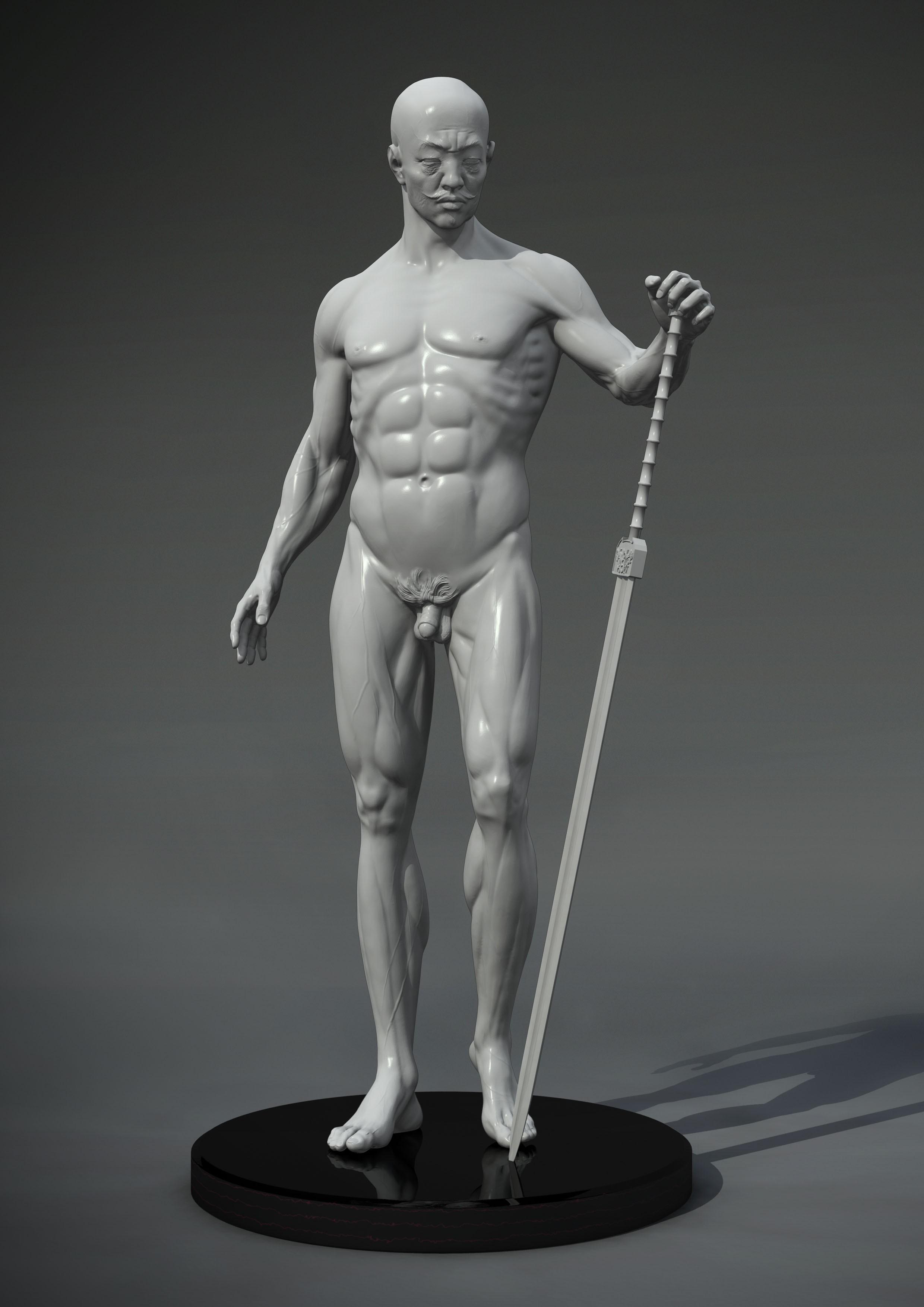 高清简单雕像头部正面图片