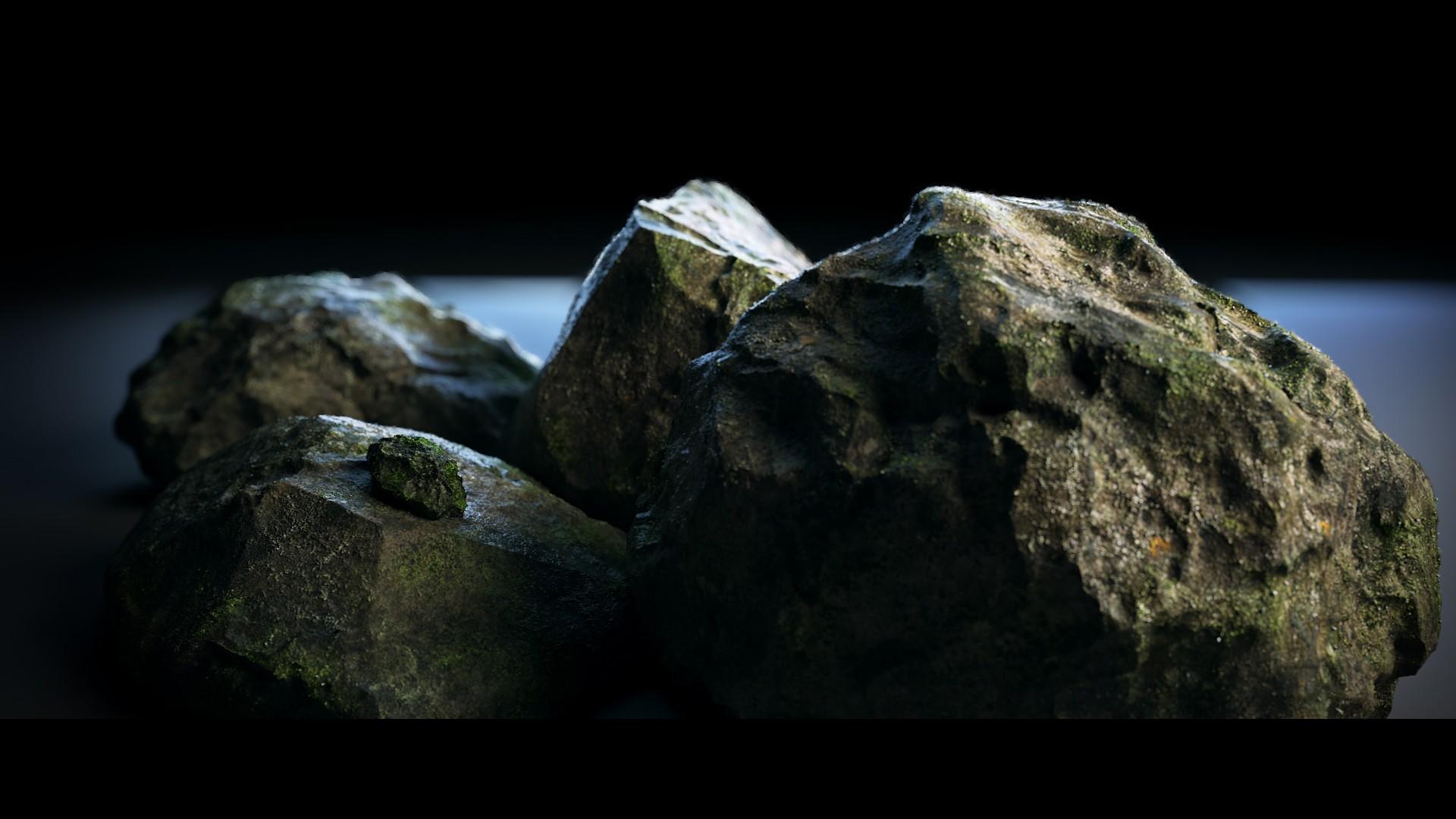 有字的风景石头