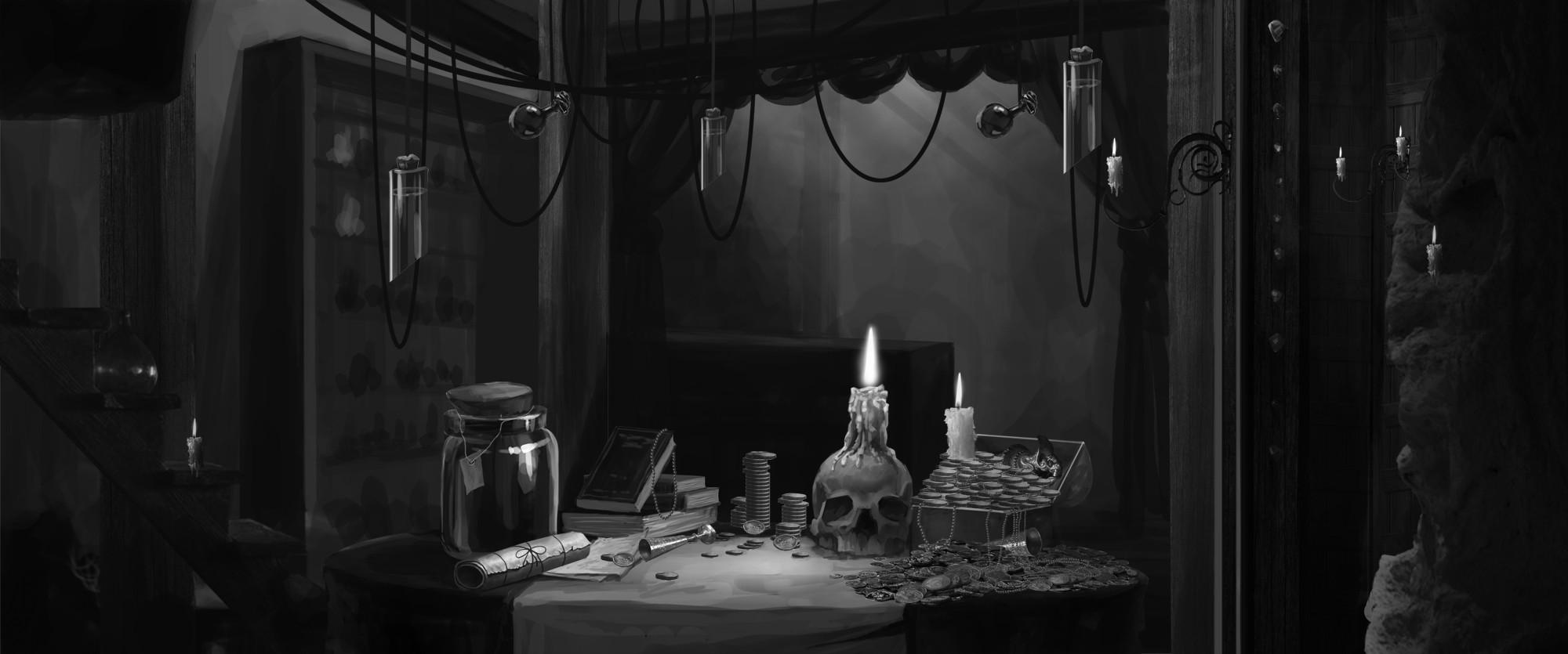 烛光黑白稿 由 leo0art 创作 | 乐艺leewiart cg精英
