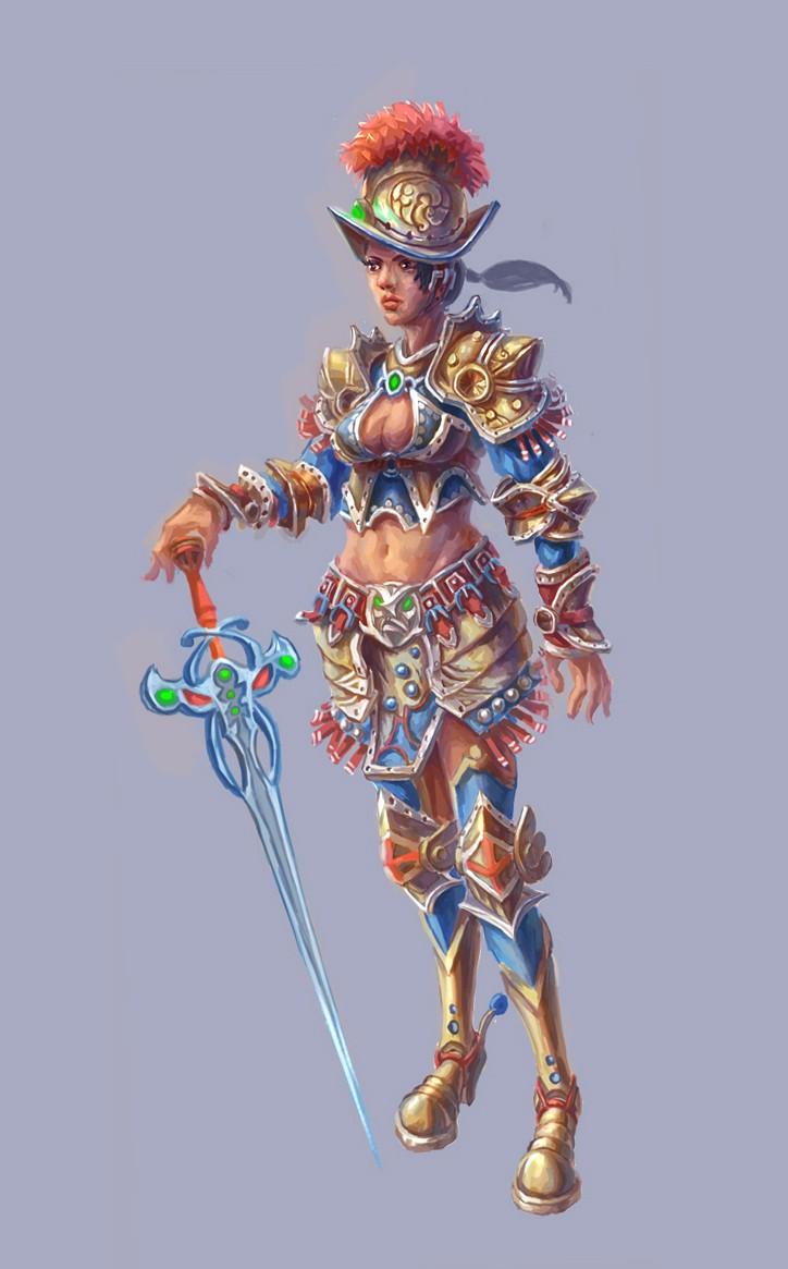 中世纪女战士