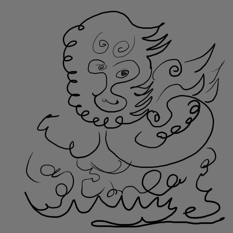 王者荣耀猴子手绘线稿