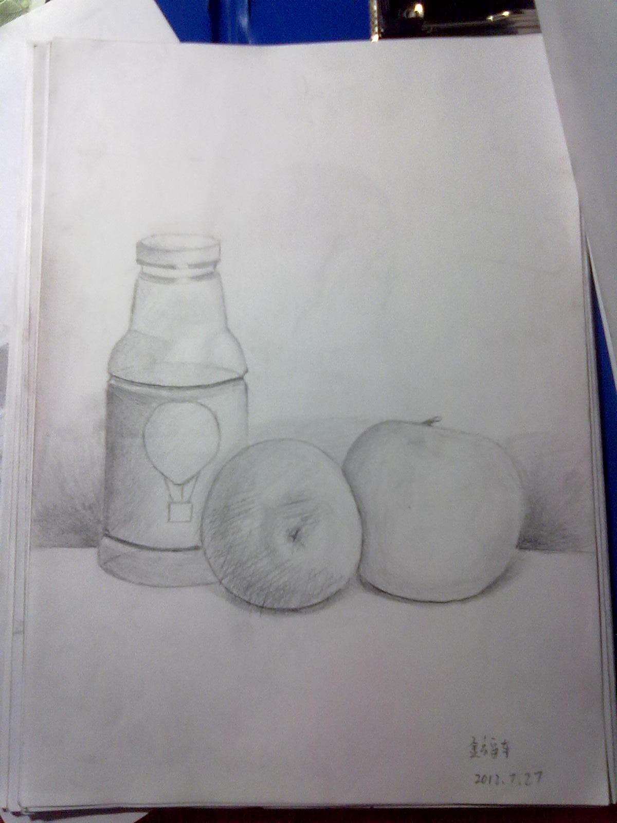 瓶子 素描 1200_1600 竖版 竖屏