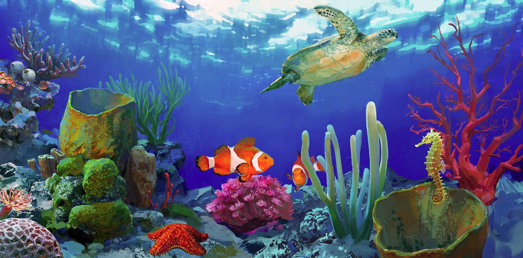 壁纸 海底 海底世界 海洋馆 水族馆 1791_886