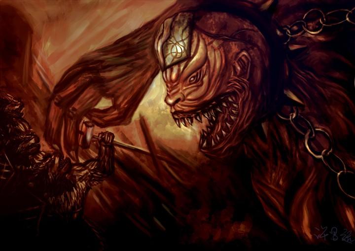 恶魔迪恩手绘图
