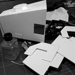 太空堡垒怪兽歼击机改-胶板