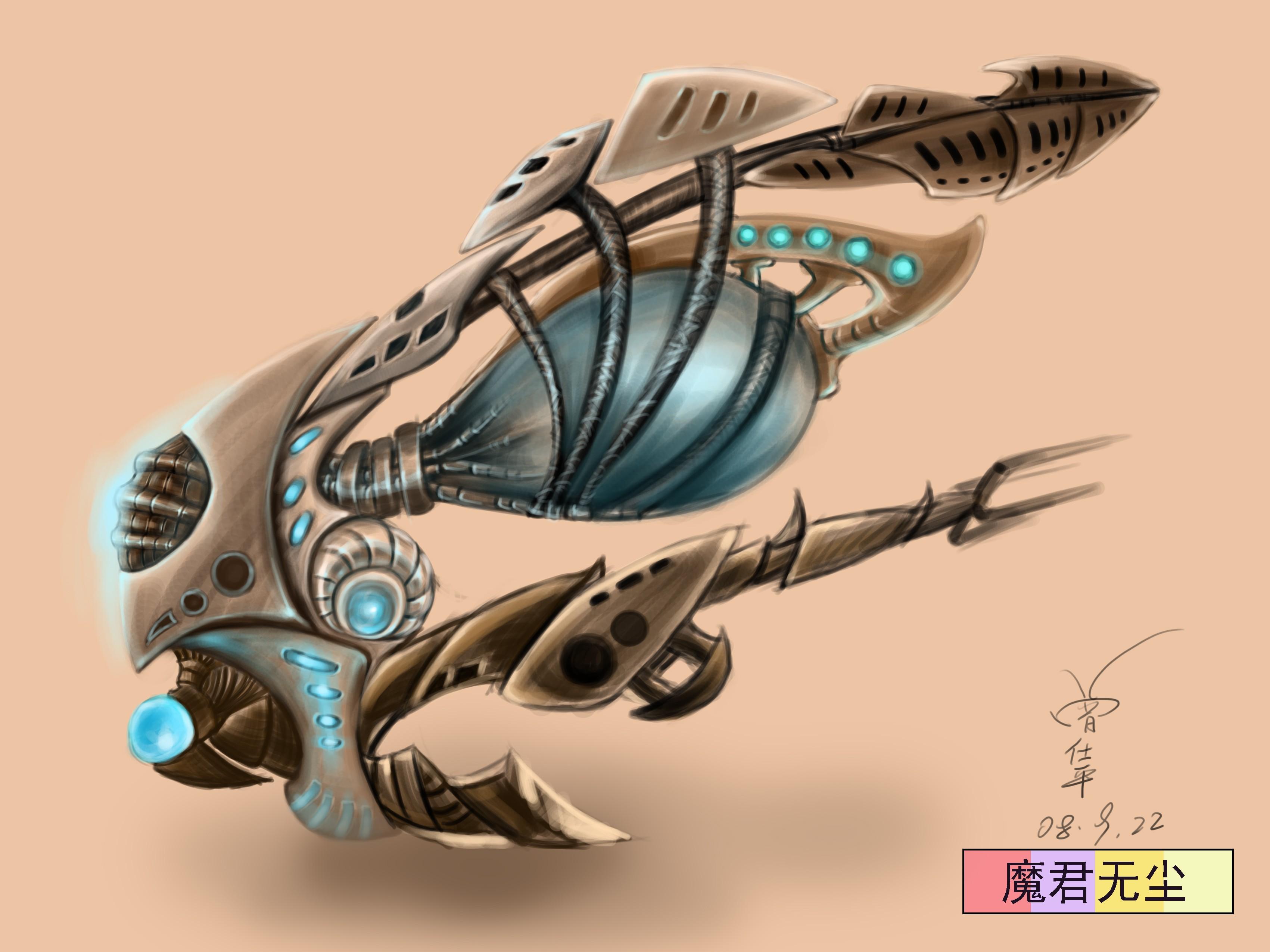 宇宙飞船简笔画主题画