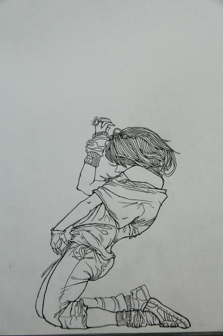 街舞音響手繪圖