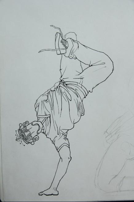 简笔画 手绘 素描 线稿 436_655 竖版 竖屏