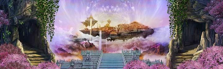 天宫牡丹风景手机壁纸