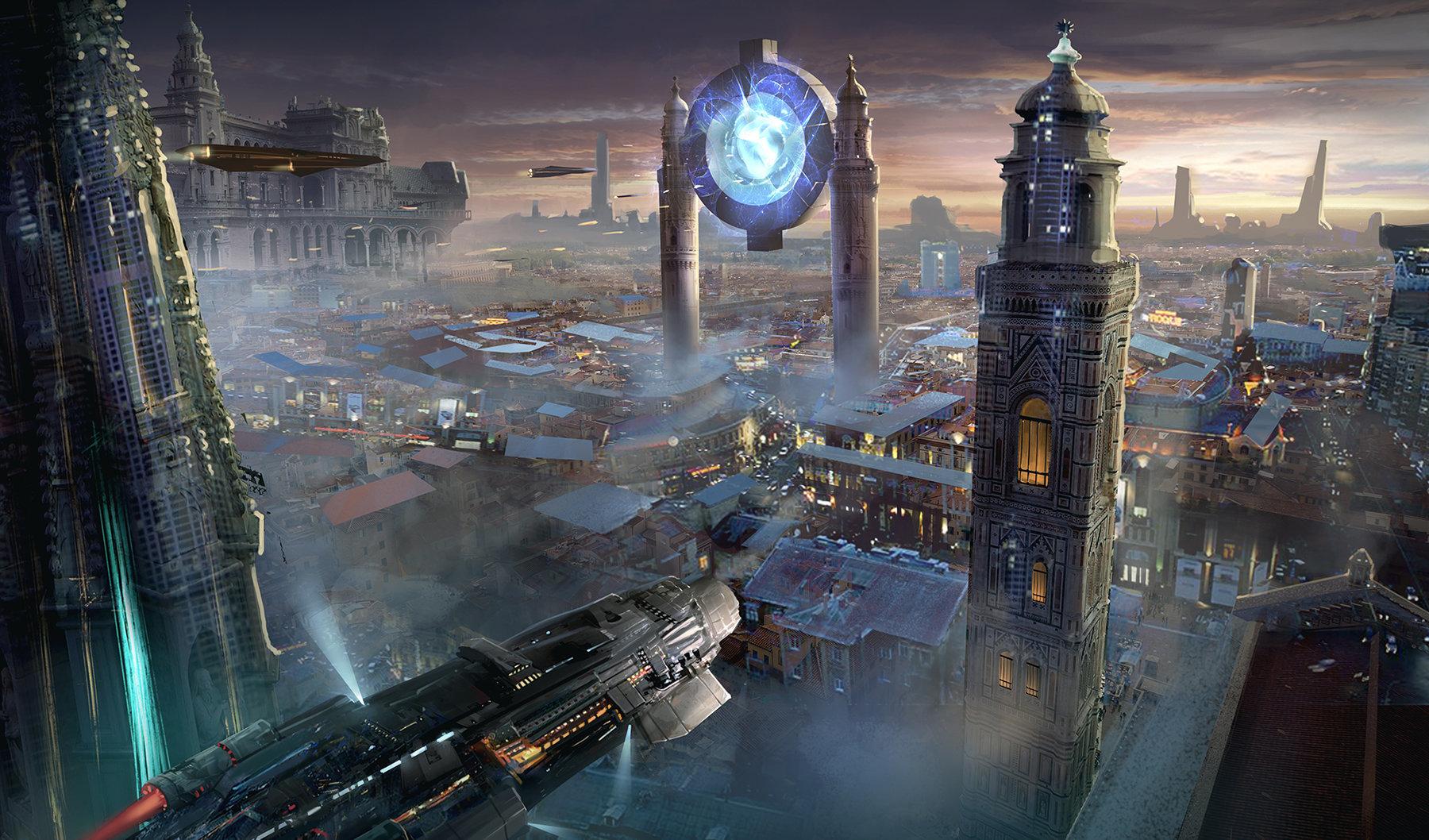城市 游戏 背景 素材