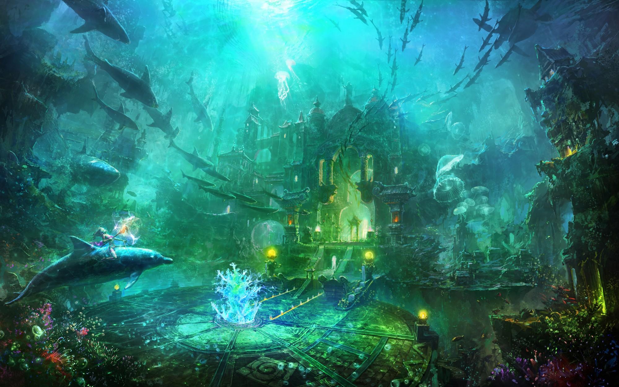 壁纸 海底 海底世界 海洋馆 水族馆 桌面 2000_1250