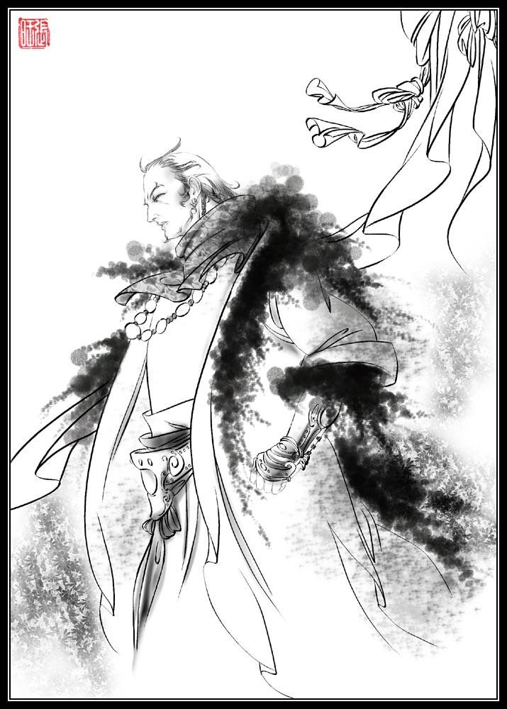 狼的侧面素描画步骤