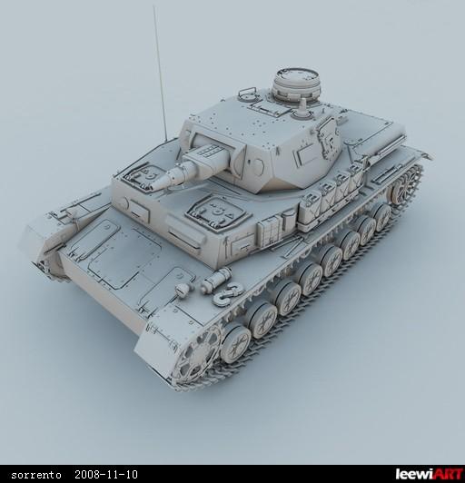 闲暇时间制作的坦克模型