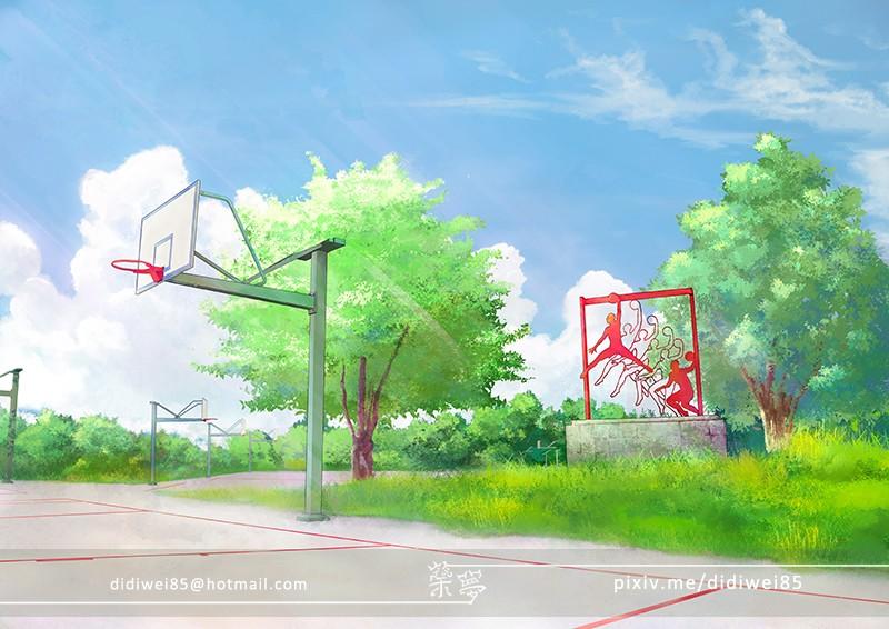 日式场景练习-篮球场