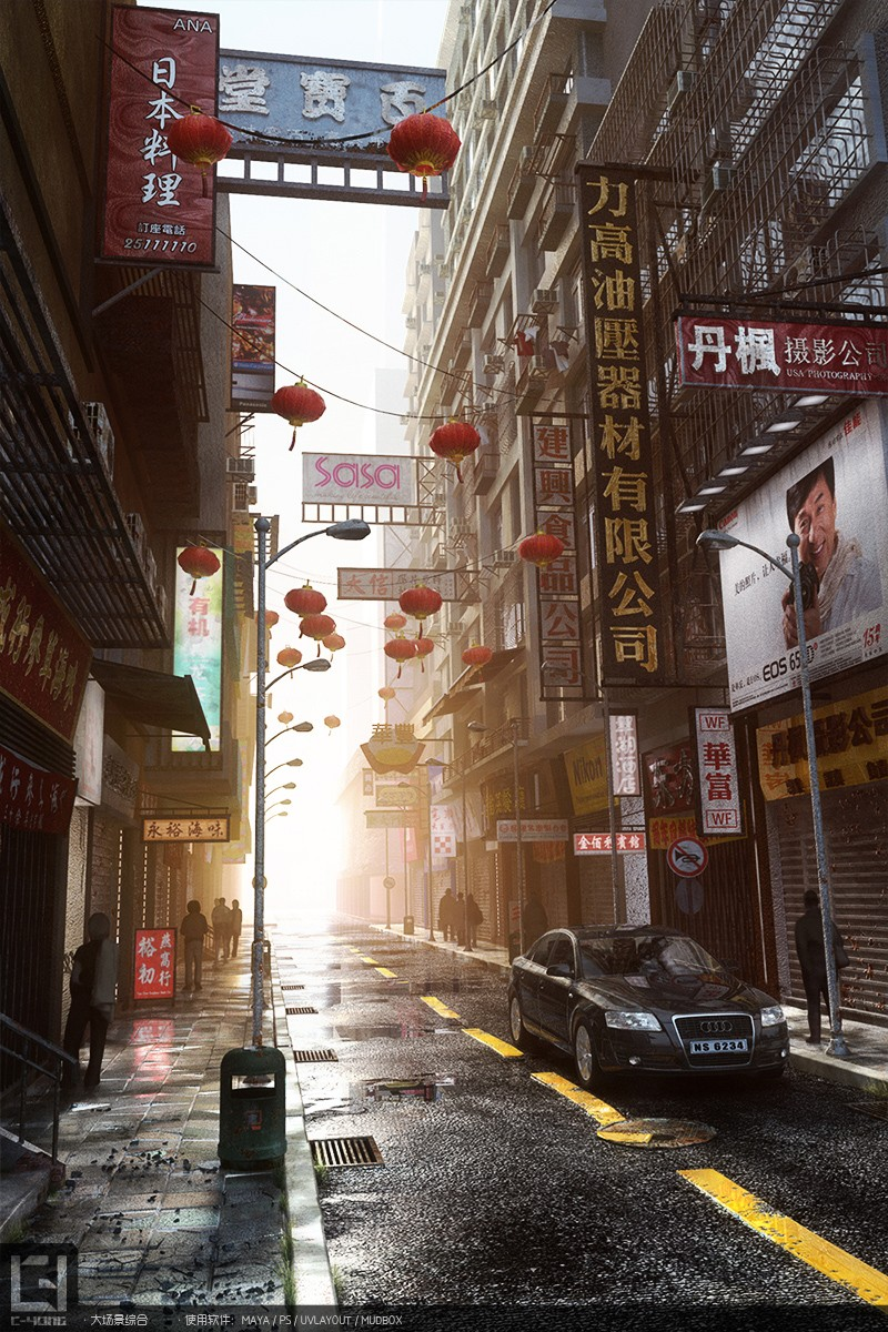 国际资讯_街道场景 由 cy8135643 创作 | 乐艺leewiART CG精英艺术社区,汇聚优秀 ...