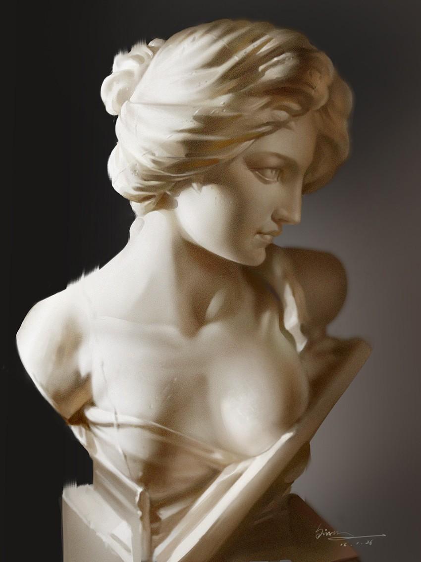 石膏雕塑背景墙