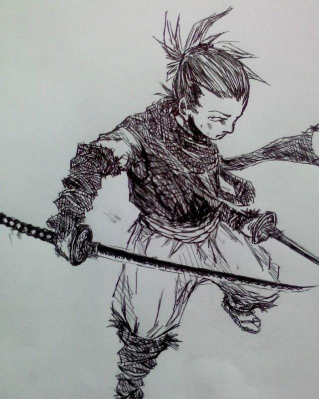 日本武士盔甲纹身