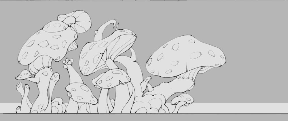 佳木斯的春天简笔画可爱的蘑菇