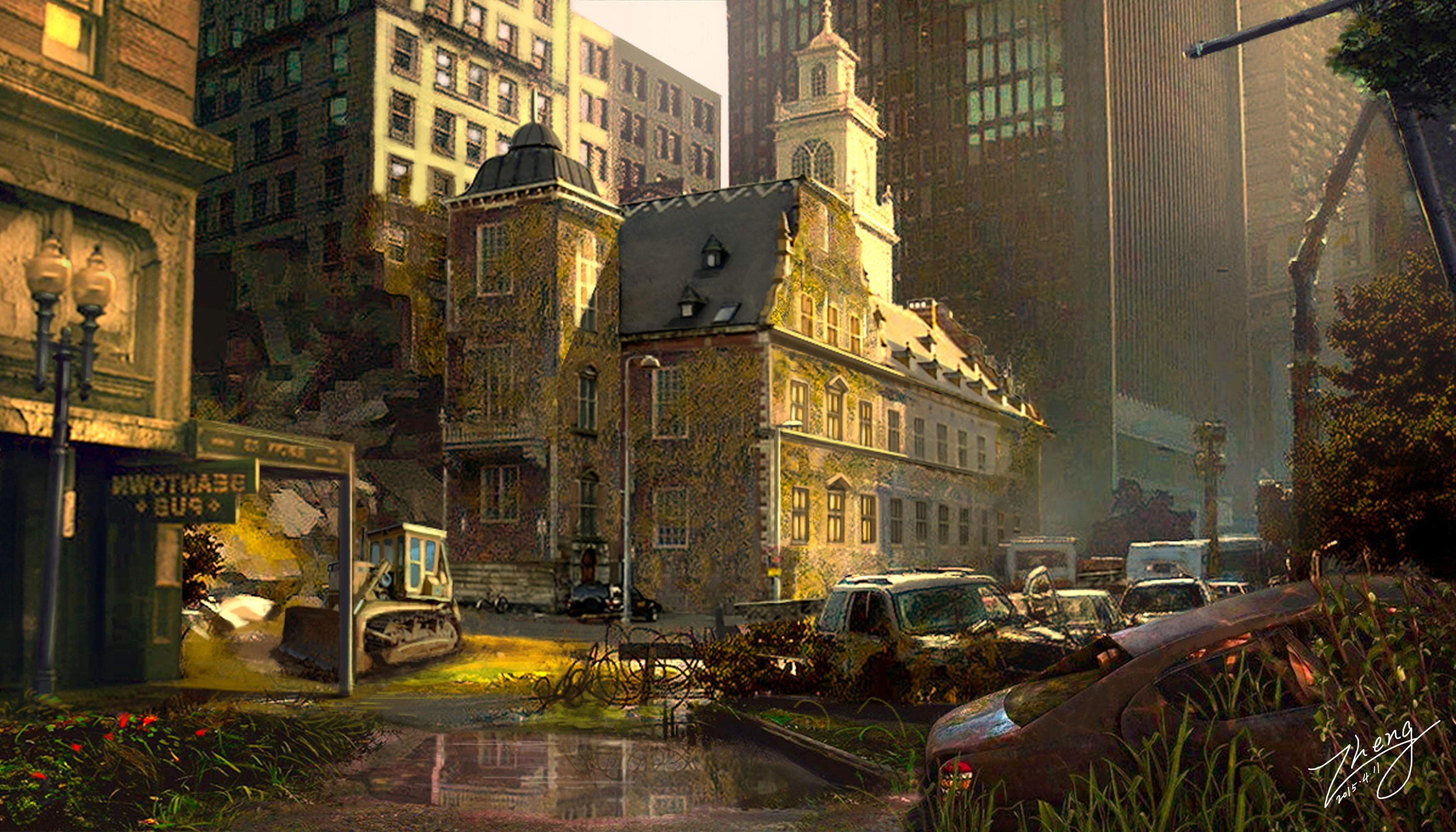 废弃的城市一角