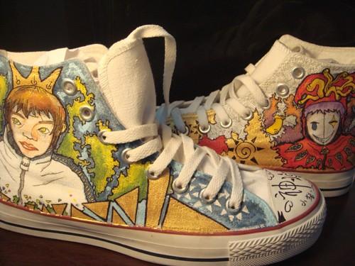 手绘鞋子的图片