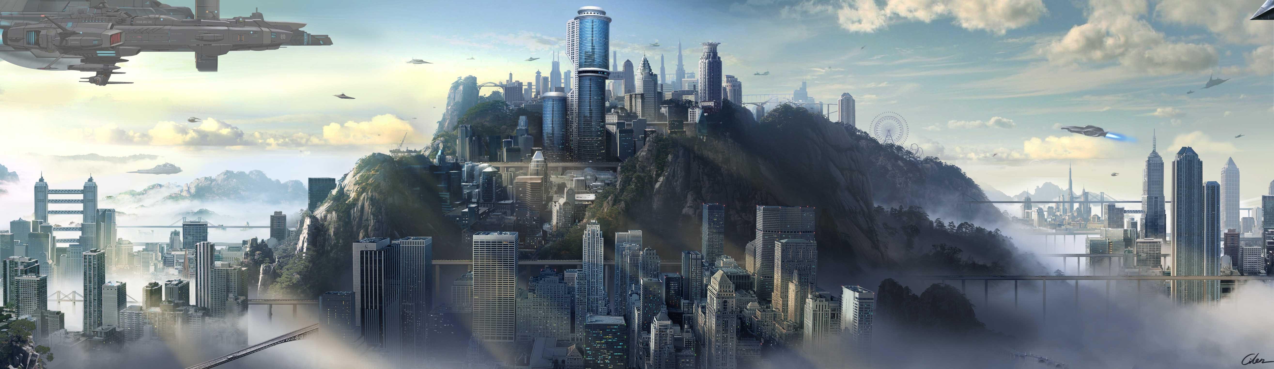 未来的建筑怎么画手绘