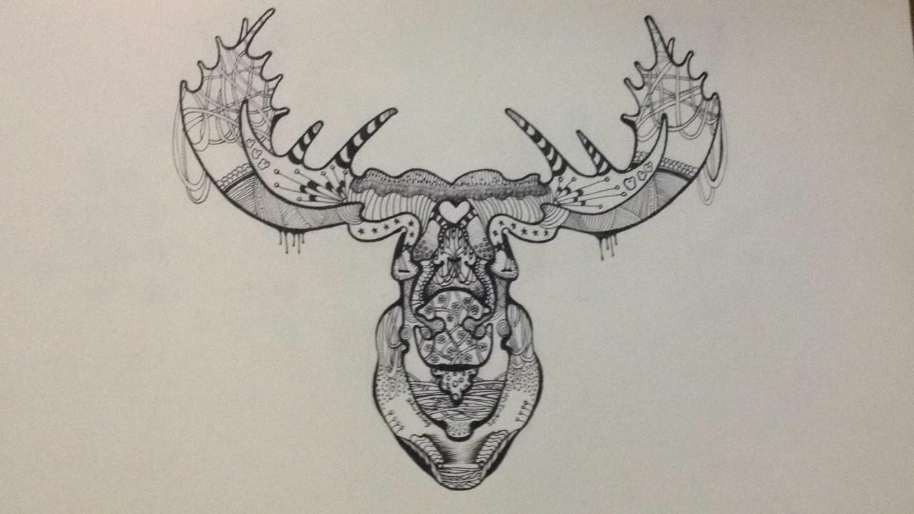 鹿角画法简笔画