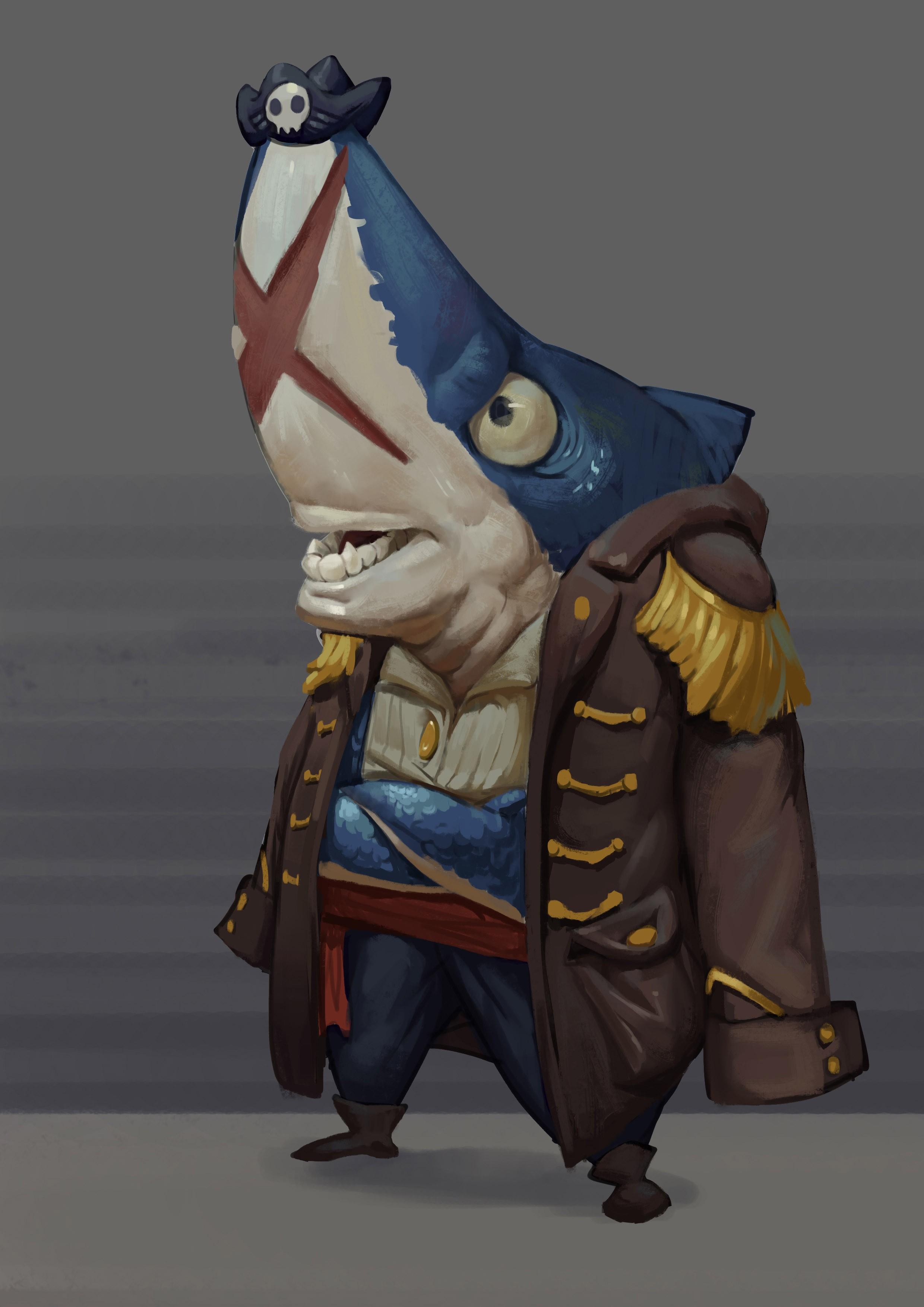 海盗鲨克 由 monk 创作 | 乐艺leewiart cg精英艺术