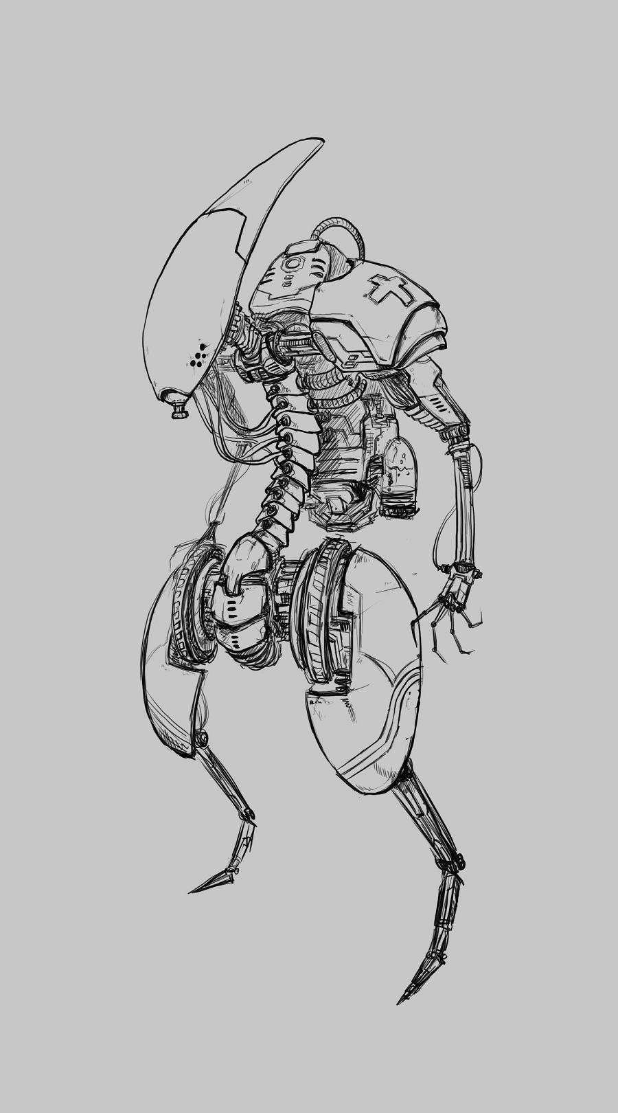 机械动漫图片手绘