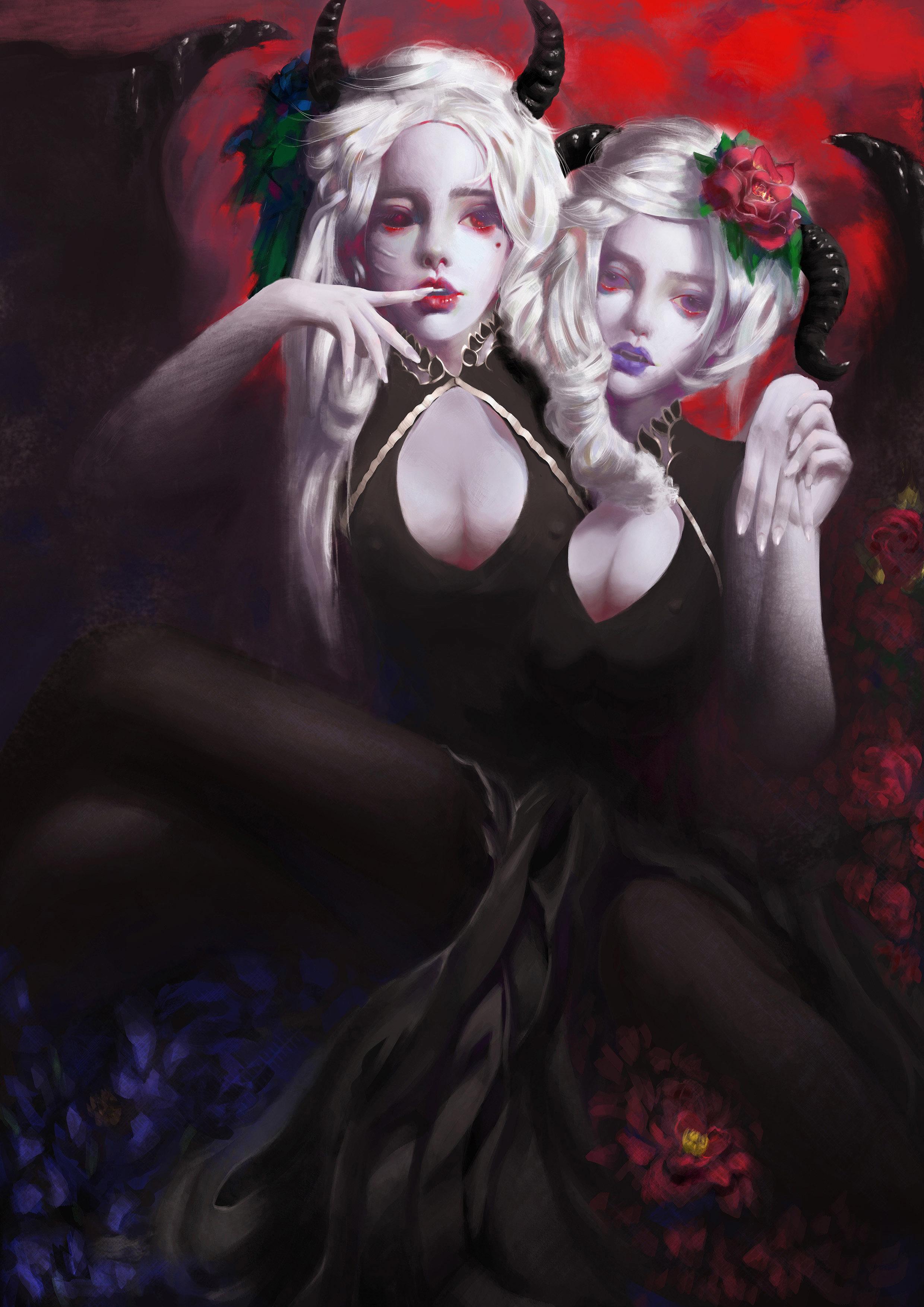 恶魔角素材黑色