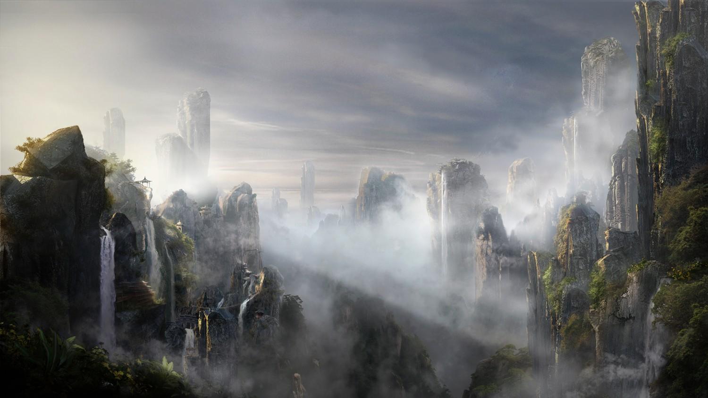 壁纸 风景 旅游 瀑布 山水 桌面 1500_843