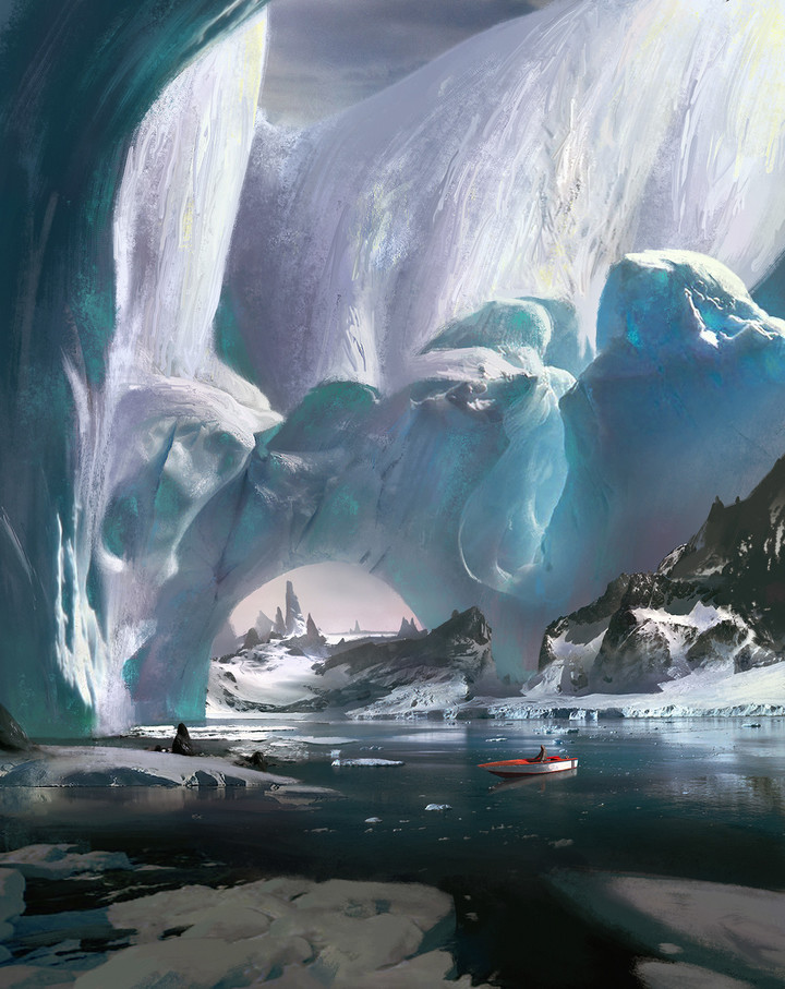 ice-capped mountain