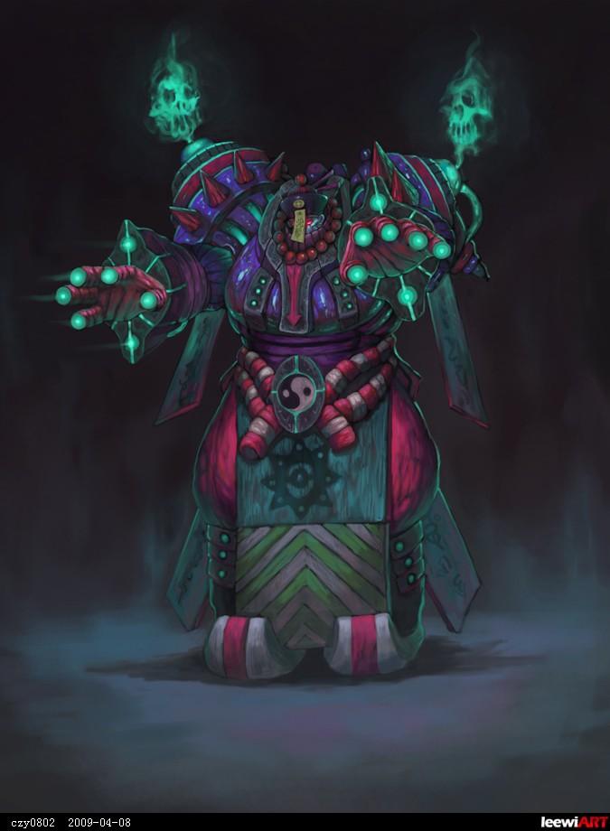 来自中国的古代机甲僵尸 指尖的鬼火激光是攻击武器