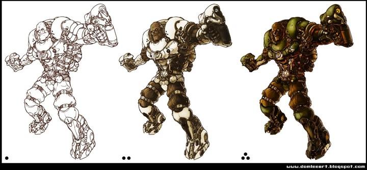 机械兽兵的绘制步骤