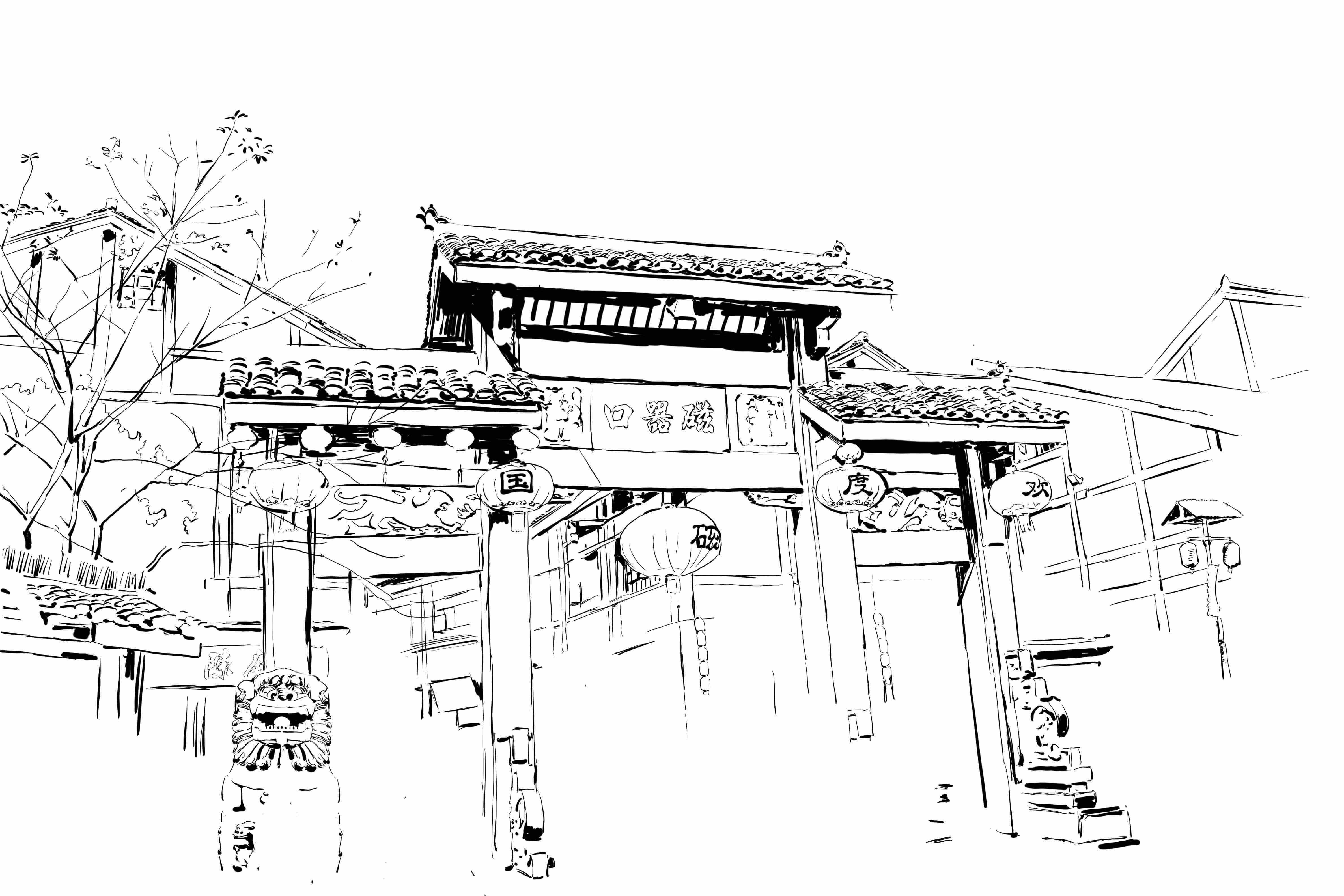重庆手绘图简单